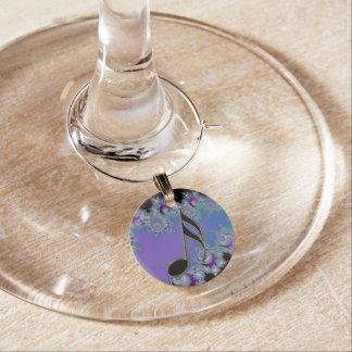 Décimosexto encanto del vino de la nota de la identificadores de copas