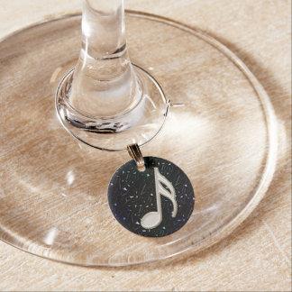 Décimosexto encanto del vino de la nota del brillo identificadores de copas