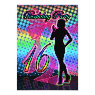 décimosexto Invitación de la fiesta de cumpleaños, Invitación 12,7 X 17,8 Cm