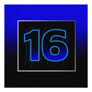 décimosexto Invitación de la fiesta de cumpleaños