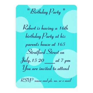 décimosexto Invitación de la tarjeta de cumpleaños Invitación 13,9 X 19,0 Cm