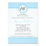 décimosexto invitación del cumpleaños del lunar invitación 12,7 x 17,8 cm