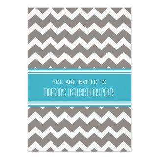 Décimosexto invitaciones azules de la fiesta de cu