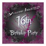 décimosexto Invitaciones de la fiesta de Invitación 13,3 Cm X 13,3cm