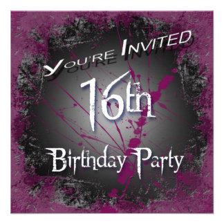 décimosexto Invitaciones de la fiesta de cumpleaño Comunicado Personal