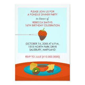 décimosexto Invitaciones del fiesta de cena de la Invitación