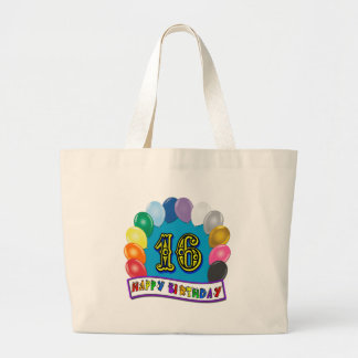 décimosexto La bolsa de asas del cumpleaños con lo