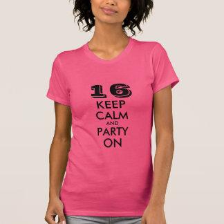 décimosexto La camiseta del cumpleaños para los ch