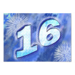 décimosexto La fiesta de cumpleaños invita Invitación 12,7 X 17,8 Cm
