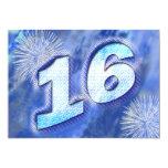"""décimosexto La fiesta de cumpleaños invita Invitación 5"""" X 7"""""""