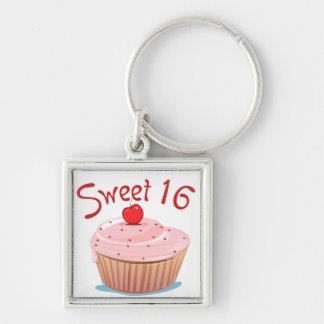 Décimosexto magdalena del cumpleaños del dulce 16 llaveros personalizados