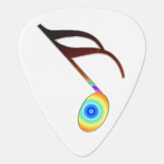 décimosexto Nota de la música Púa De Guitarra