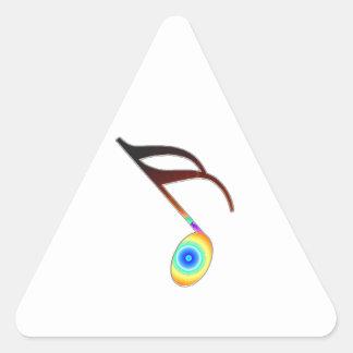 décimosexto Nota de la música Pegatina Triangular