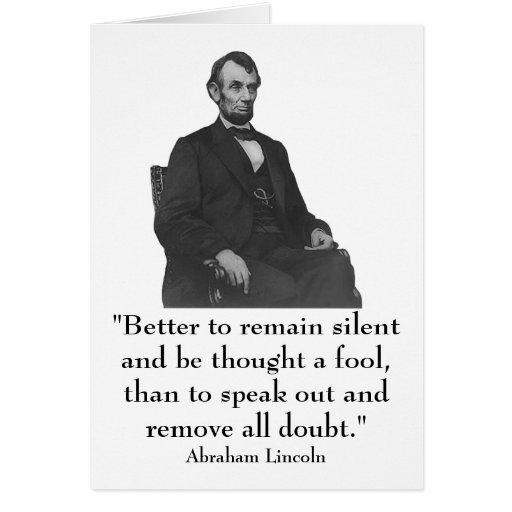 décimosexto Presidente Abraham Lincoln Tarjeta De Felicitación