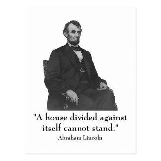 décimosexto Presidente Abraham Lincoln Postales