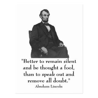 décimosexto Presidente Abraham Lincoln Tarjetas Postales