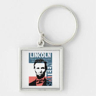 Décimosexto presidente de Abraham Lincoln Llaveros Personalizados