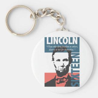Décimosexto presidente de Abraham Lincoln Llavero Personalizado
