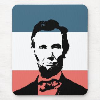 Décimosexto presidente de Abraham Lincoln Tapetes De Raton