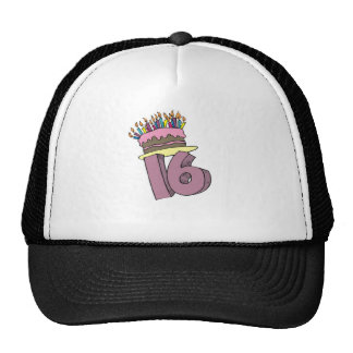 décimosexto Regalo del gorra del cumpleaños