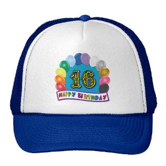 décimosexto Regalos de cumpleaños con diseño clasi Gorras De Camionero