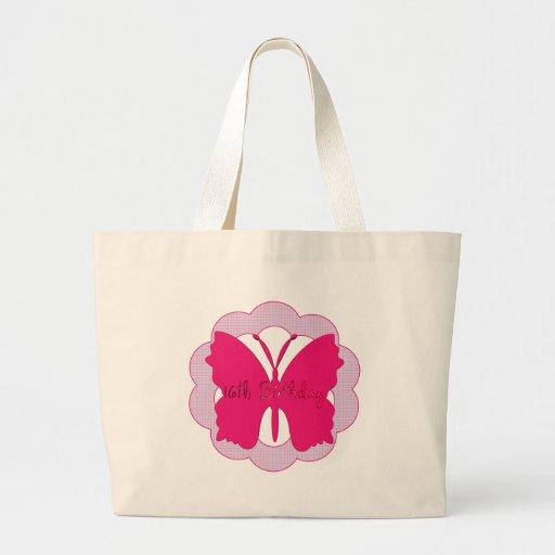 Décimosexto regalos de cumpleaños de la mariposa bolsa
