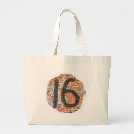 Décimosexto regalos de cumpleaños de la pintada bolsa