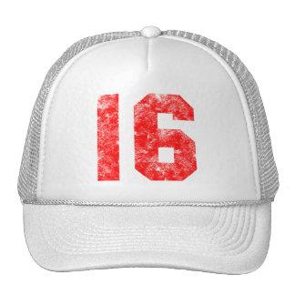 Décimosexto regalos de cumpleaños del dulce gorras