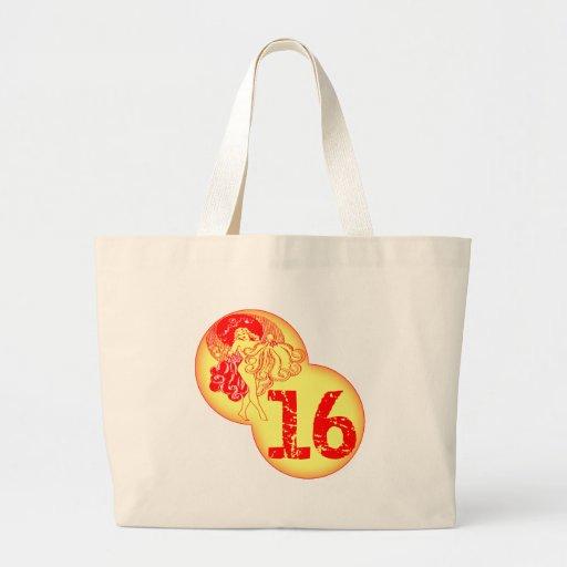 Décimosexto regalos de cumpleaños del dulce retro bolsas