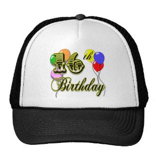 Décimosexto regalos de cumpleaños y ropa felices d gorro de camionero