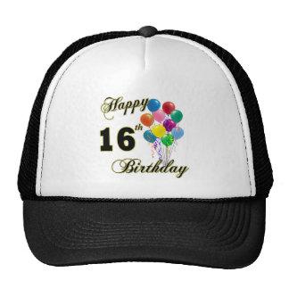 Décimosexto regalos de cumpleaños y ropa felices d gorros bordados