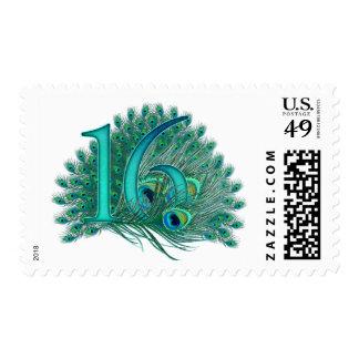 décimosexto sellos decorativos del número