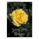 Décimosexto tarjeta feliz de la flor del cumpleaño