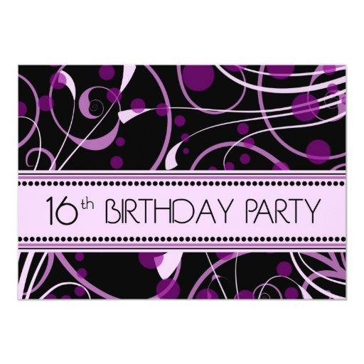 Décimosexto tarjetas de la invitación de la fiesta