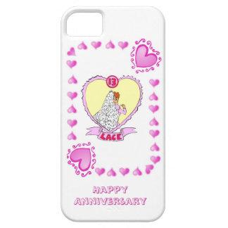 décimotercero aniversario de boda, cordón funda para iPhone SE/5/5s