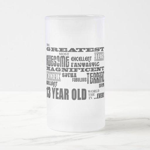 Décimotercero años más grandes de la fiesta de cum taza cristal mate