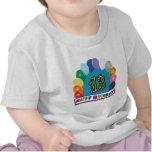décimotercero Camiseta del arco del globo del cump