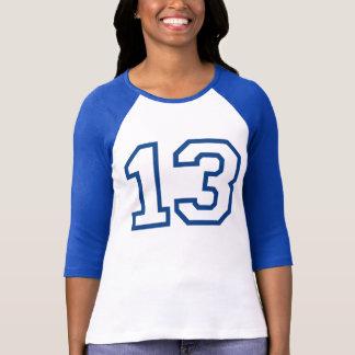 Décimotercero camiseta del CUMPLEAÑOS del equipo u