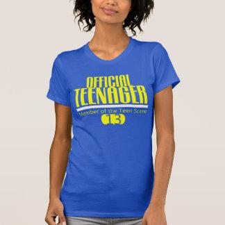 Décimotercero camiseta del CUMPLEAÑOS del Polera