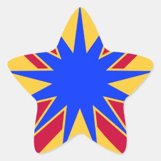 décimotercero Comando del mantenimiento Calcomanía Forma De Estrella