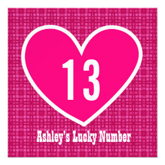 décimotercero Corazón afortunado grande V06 de la Comunicados
