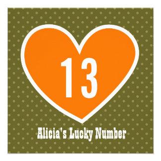 décimotercero Corazón afortunado grande V10 de la Comunicados