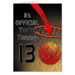 décimotercero cumpleaños - baloncesto felicitaciones