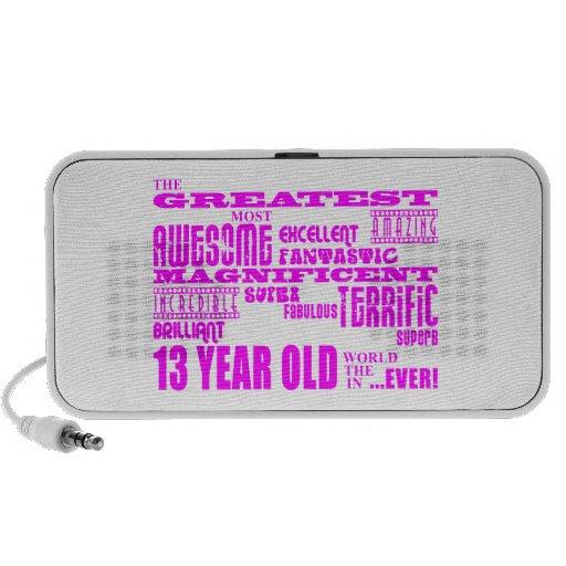 Décimotercero cumpleaños de los chicas: 13 años má altavoz