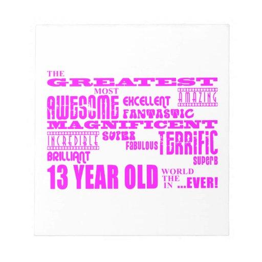 Décimotercero cumpleaños de los chicas: 13 años má libreta para notas