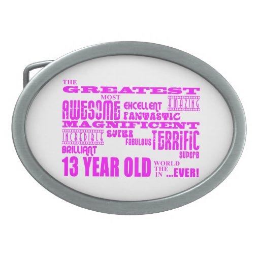 Décimotercero cumpleaños de los chicas: 13 años má hebilla cinturon oval