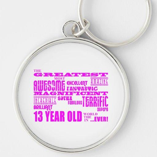 Décimotercero cumpleaños de los chicas: 13 años má llavero personalizado