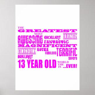 Décimotercero cumpleaños de los chicas: 13 años má impresiones
