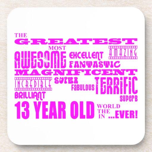 Décimotercero cumpleaños de los chicas: 13 años má posavasos de bebidas