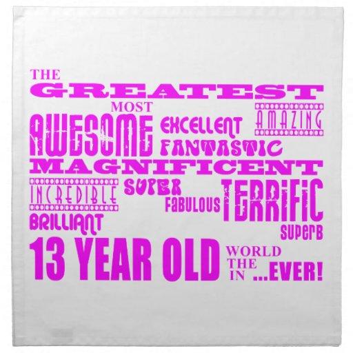 Décimotercero cumpleaños de los chicas: 13 años má servilleta
